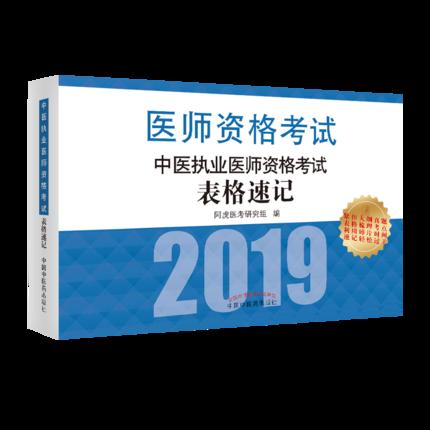 2019中医执业医师资格考试表格速记