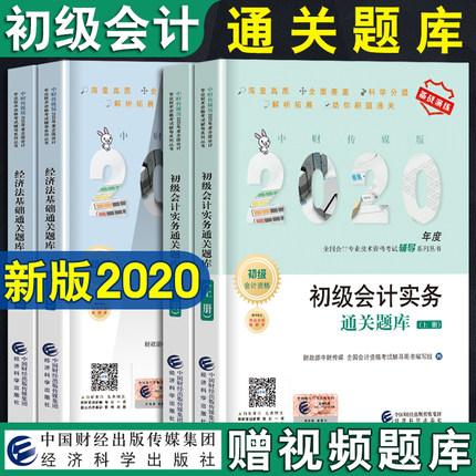 2020初级会计职称考试通关题库-经济法基础+初级会计实务(共4册)刷高质海量题通关
