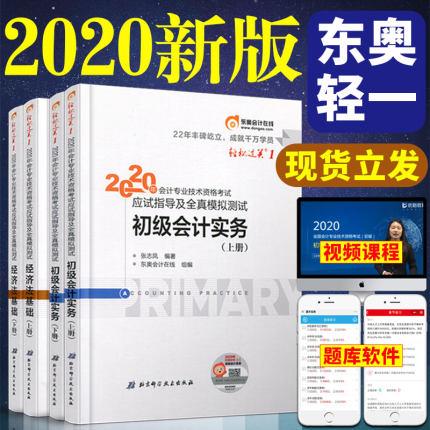 轻松过关1:2020年初级会计职称考试应试指导及全真模拟测试-初级会计实务+经济法基础(上下册)共4册