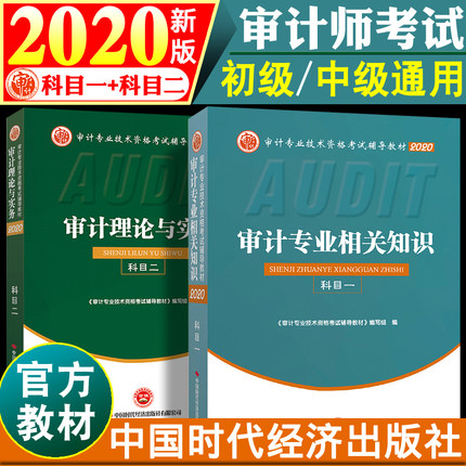 官方正版2020初中级审计师考试教材-审计专业相关知识+审计理论与实务(共2本)初级中级通用